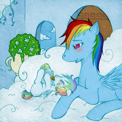 Rainbow Dash and White Whirl 1 by tinuleaf