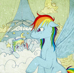 Rainbow Dash and White Whirl 2 by tinuleaf