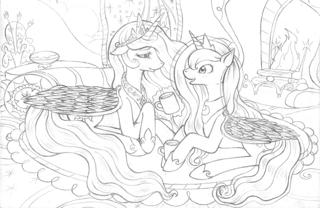 Sisters talk by tinuleaf