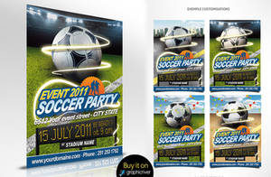 Football flyer event by oblik50