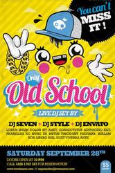 Old School Party Flyer by oblik50
