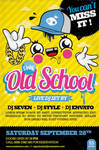 Old School Party Flyer