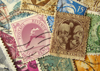 Fantasy Postage Stamps Experiment. by researcher42