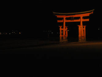 The Torii of Miyajima by KXSakuraba