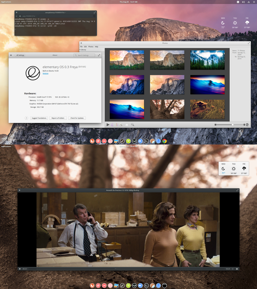 Elementary OS 0.3 Freya by chriptik