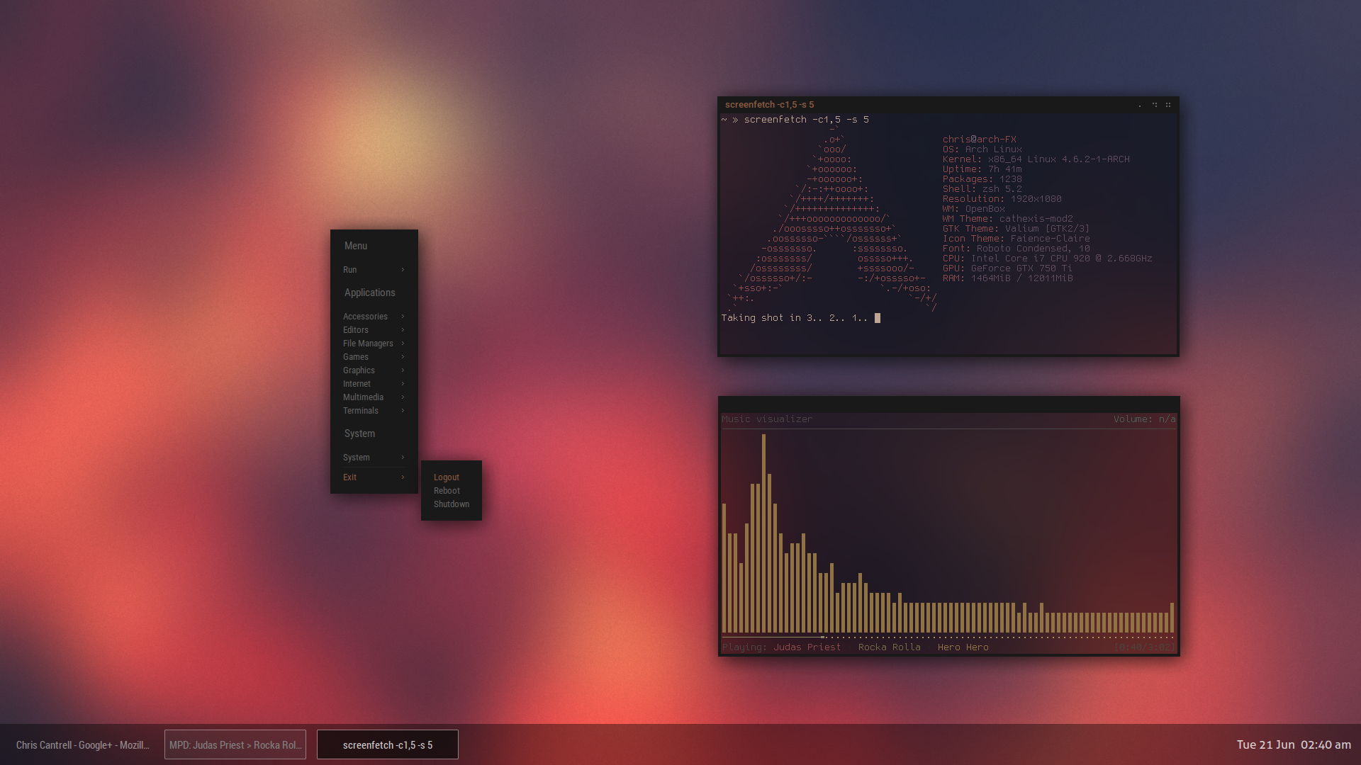 Arch + Openbox. by chriptik