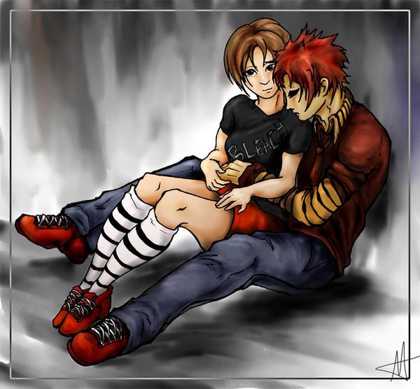 Gaara and Matsuri by Bluespira on DeviantArt Gaara And Matsuri Kiss