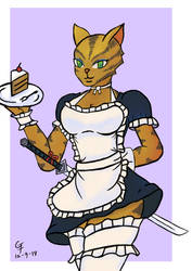 Feline Good (A Girl Power Skin Honey Bunny fanart) by Catumaran