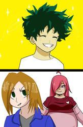 kimiko and Hansuke likes izuku