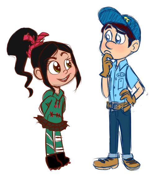 Felix and Vanellope by CandyBattleaxe