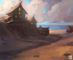 Peaceful Village by Waltjan