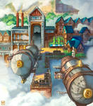 Commission: Peaceful Town - The Docks