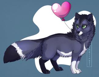 68k kiriban: Dark-Arctic-Fox by CatherineSt