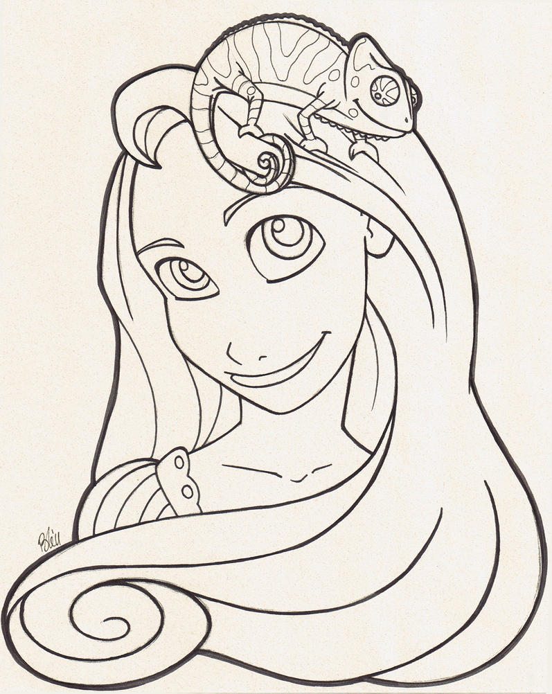 tangled coloring page by kirei kaze on deviantart