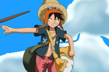 Luffy still busy by Irasutoreta