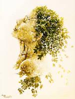 Fille en feuilles by passagere-DA