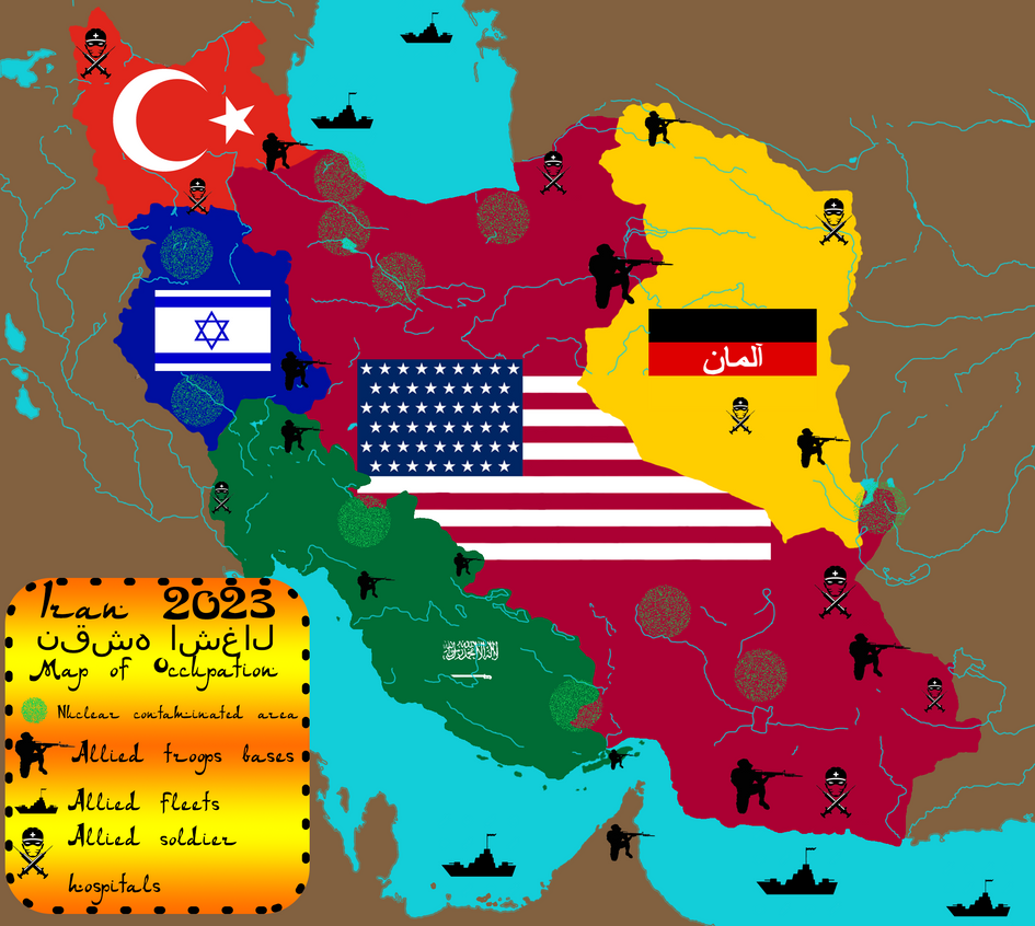 Iran Map of Occupation 2023 by IasonKeltenkreuzler on DeviantArt