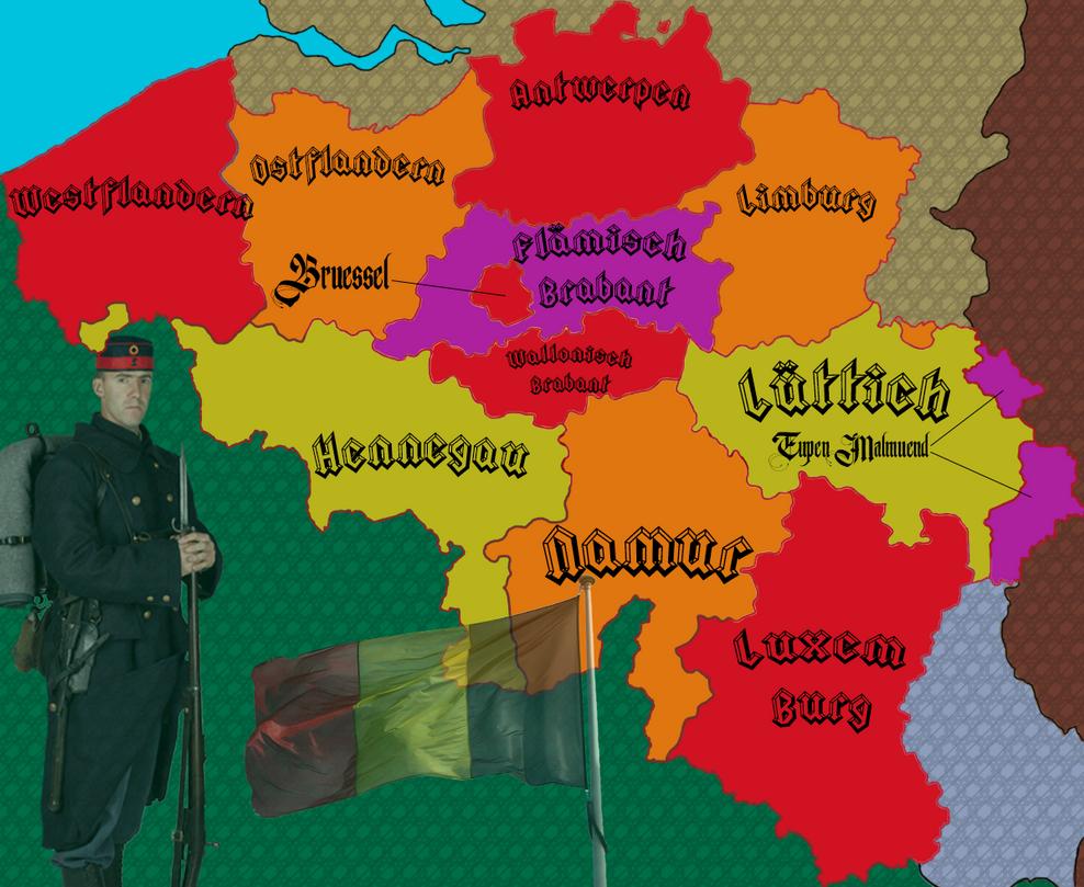 belgium map with german eupen malmedy by iasonkeltenkreuzler