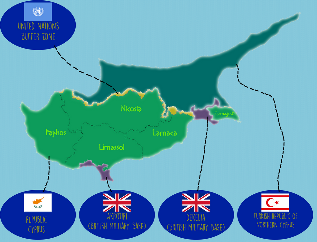 Political DeFacto Map of Cyprus by IasonKeltenkreuzler on DeviantArt