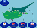 Political DeFacto Map of Cyprus