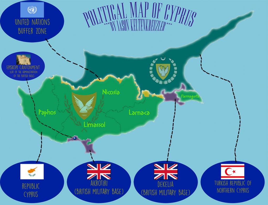 Cyprus Map V By IasonKeltenkreuzler On DeviantArt - Cyprus map png