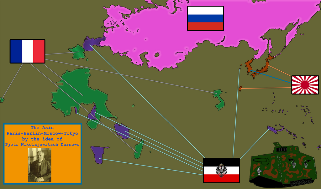 Axis Paris-Berlin-Moscow-Tokyo by IasonKeltenkreuzler
