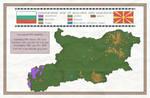 Bulgaria and Macedonia Ethnographic Map