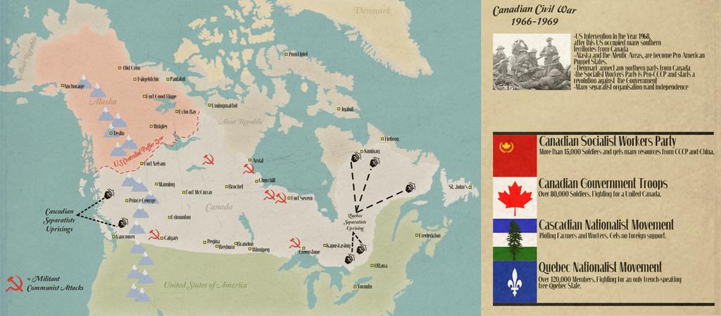 Canadian Civil War by IasonKeltenkreuzler