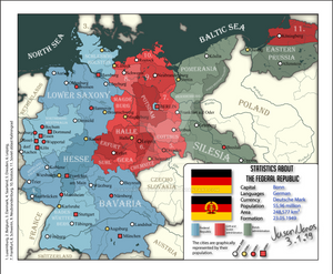 Political map of Germany, 1960