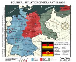 Political map of Germany, 1960 by IasonKeltenkreuzler