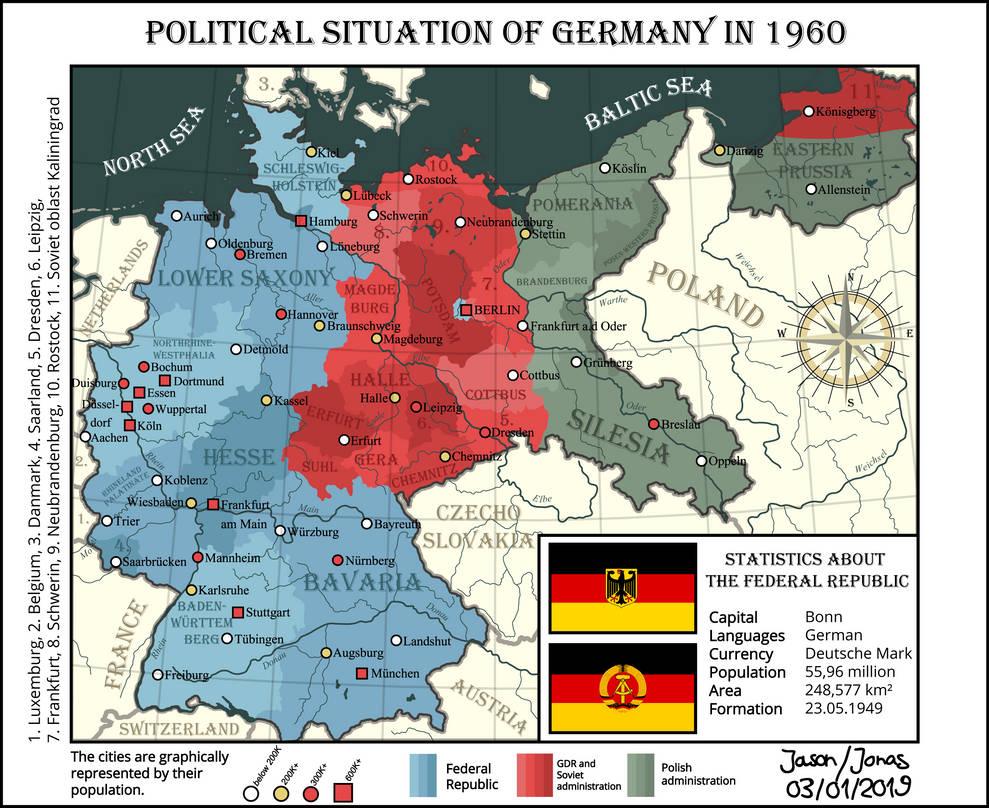 Map Of Germany 1960.Political Map Of Germany 1960 By Iasonkeltenkreuzler On Deviantart