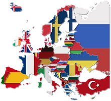 Transparent Flag map of Europe by IasonKeltenkreuzler