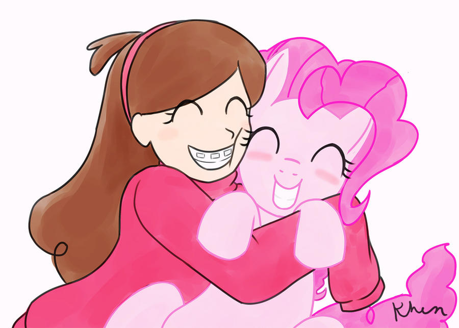 Mabel Pines and Pinkie Pie by kprovido