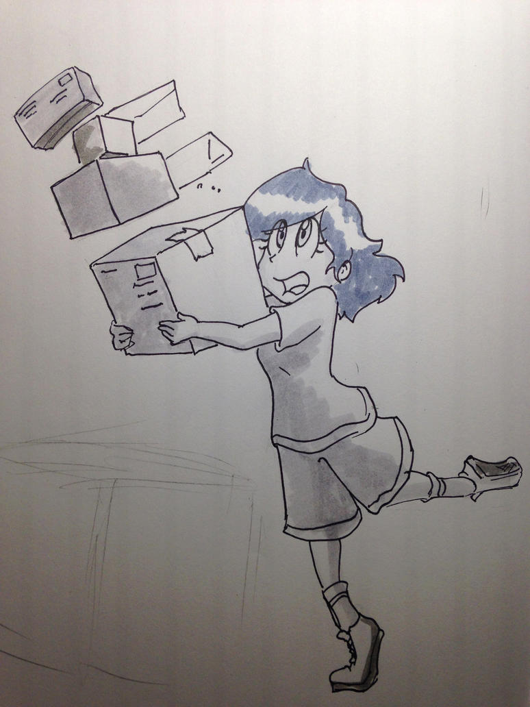 inktober OCT 5 Shenanigans in the Mailroom by kprovido