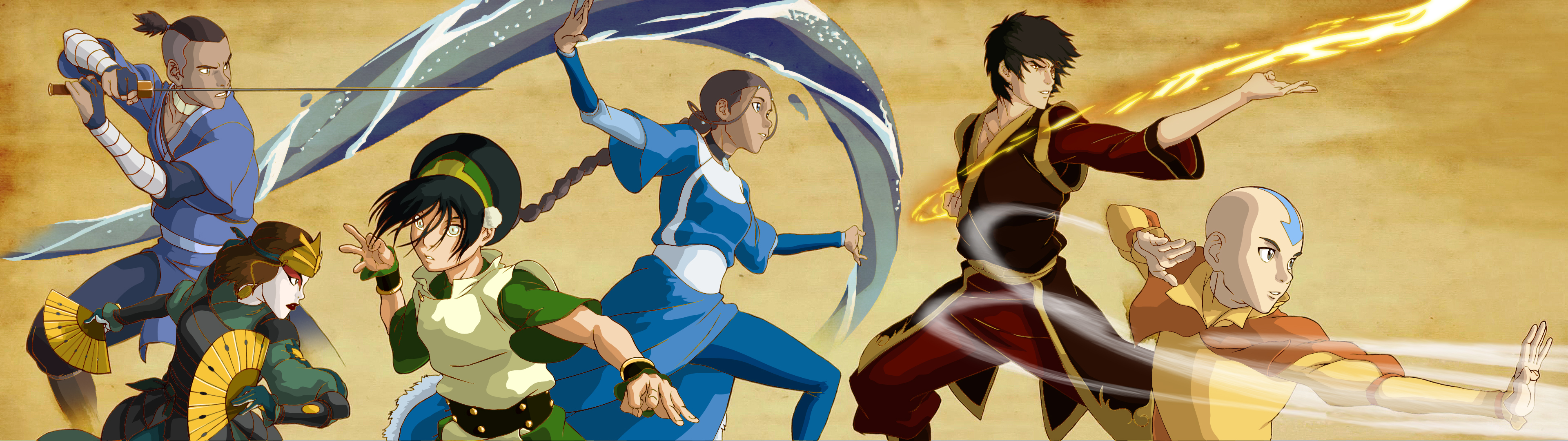 Fan art legend of korra intro coloured in aangs team avatar fan artfan art legend of korra intro coloured in aangs team avatar voltagebd Image collections