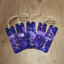 Purple/Blue Galaxy Bookmarks  by Albiona