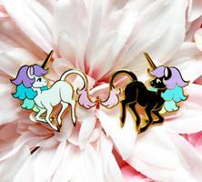 Rainbow Unicorn Enamel Pins! by aristlotl