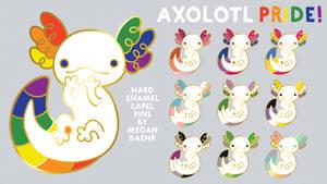 Axolotl PRIDE! Enamel Pin Collection