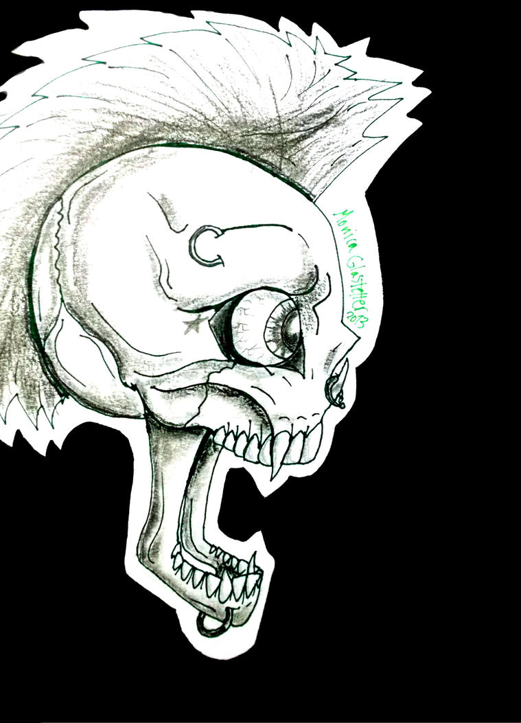 Punk Skull by RiotingKnucklehead