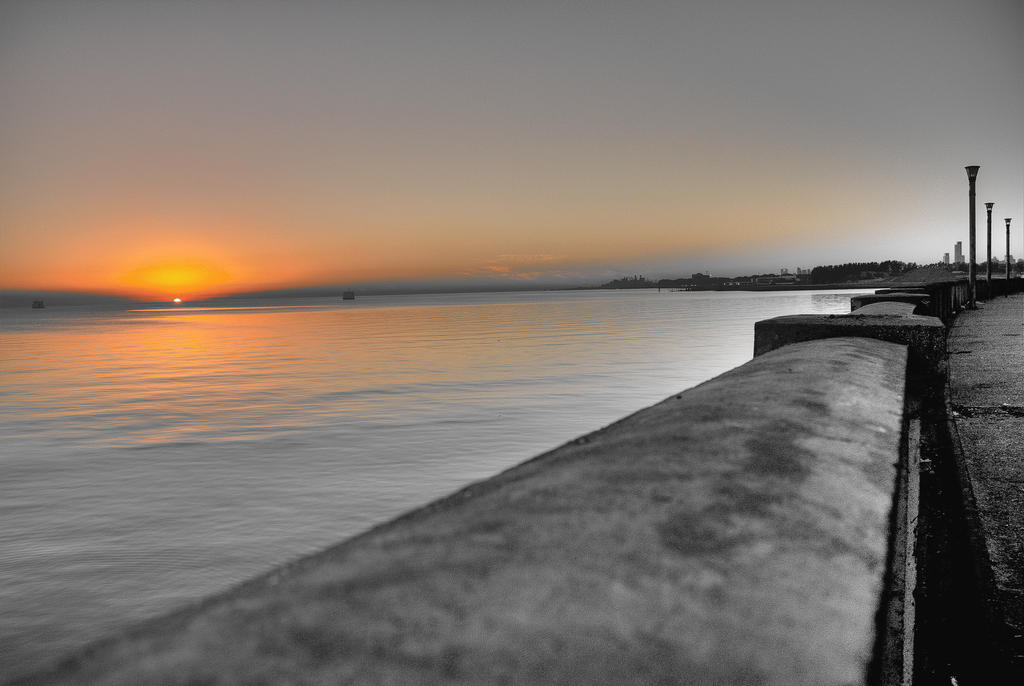 With the sunrise, the color - HDR by AlejandroCastillo