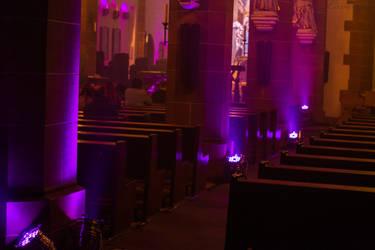 Lightened Church by Lavareille