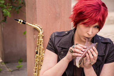 Saxophonist 3 by Lavareille