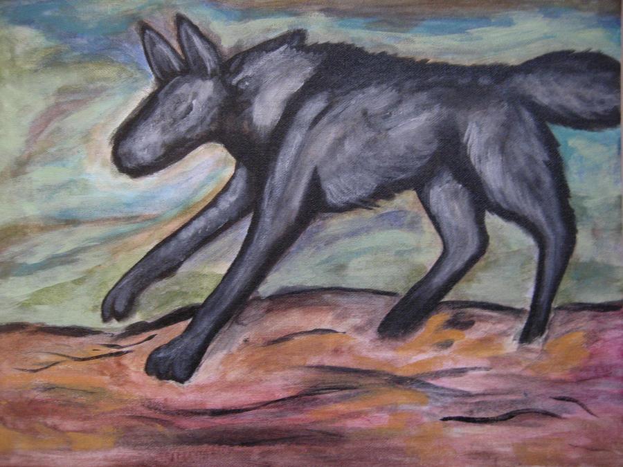 Black Wolf, Red Desert