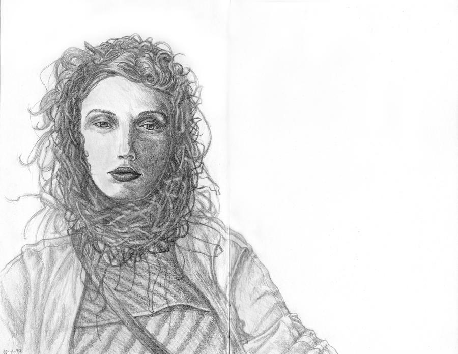 Fashion Girl Drawing by FrankGutbrod