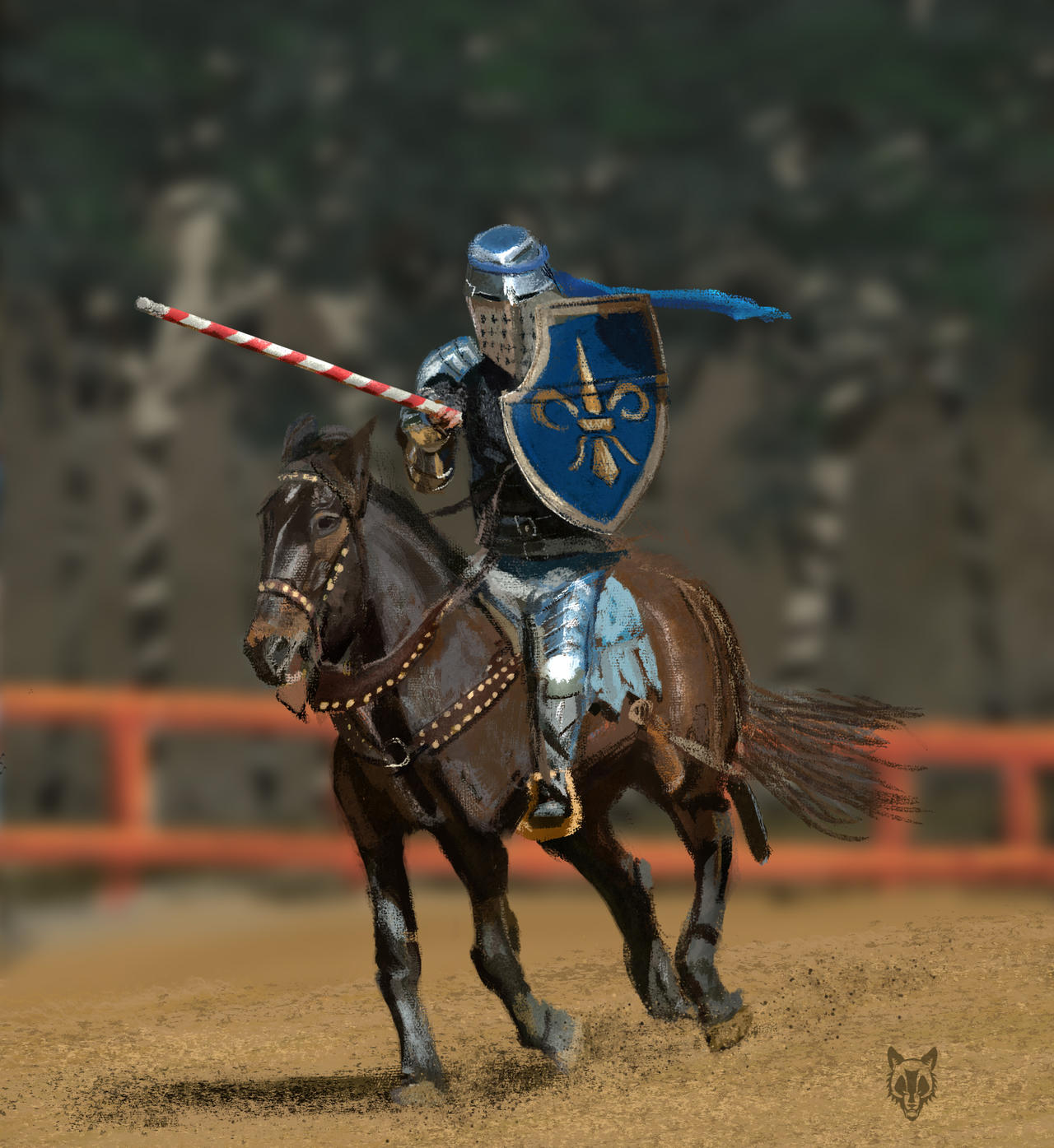 Study - Jousting by Wolkenfels