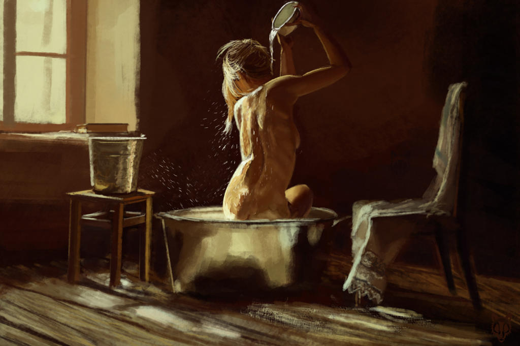 Study - bathing woman by Wolkenfels
