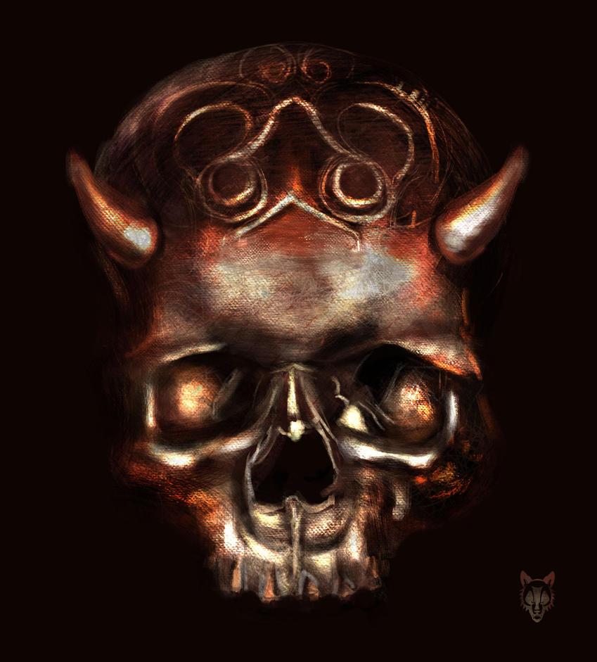 Demon Skull by Wolkenfels