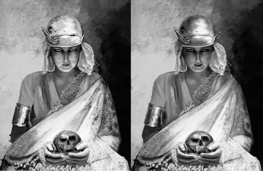 Fortune Teller before and after critique by Wolkenfels