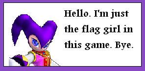 SaSASR Nights flag girl stamp