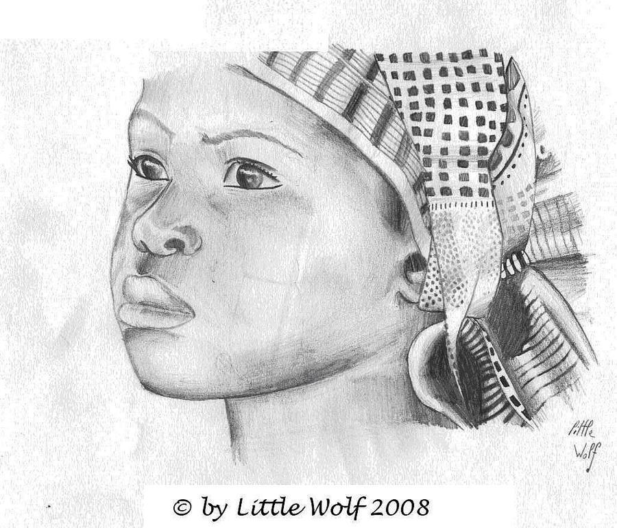 Jeune fille africaine by Ptitelouve